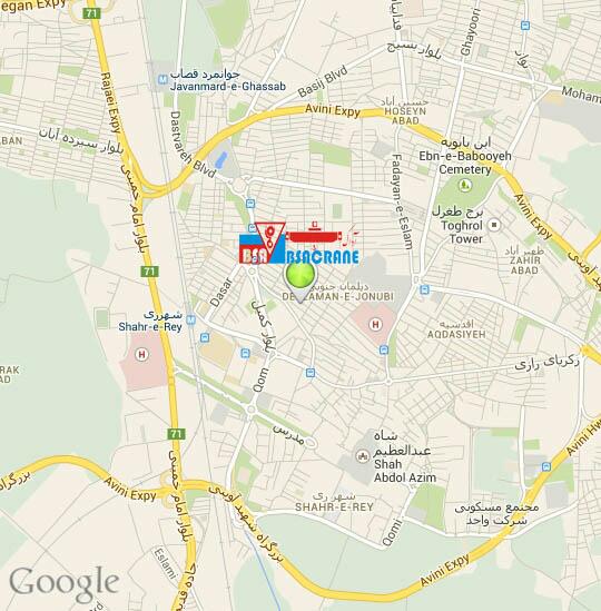 آدرس شرکت جرثقیل سقفی آداک