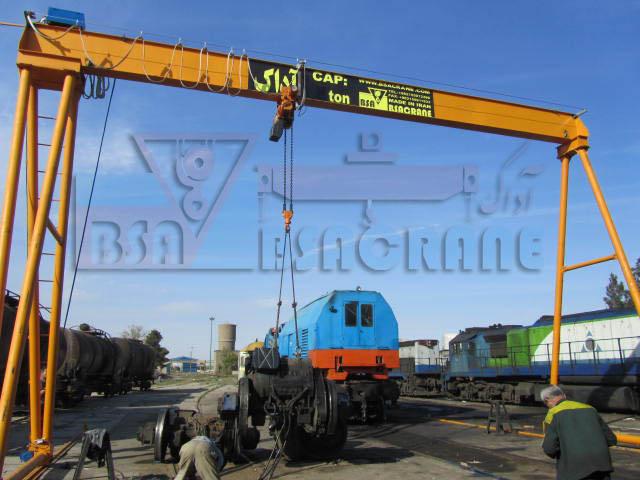 جرثقیل دروازه ای ایستگاه راه آهن قم